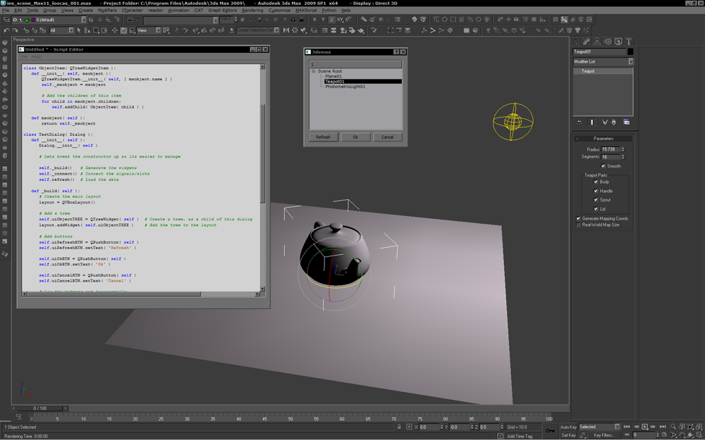 Python in 3ds Max - FINALLY POSSIBLE! | duber's blog